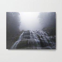 Morning Fog At Bridal Falls Metal Print