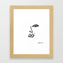 Ella Contour Line Drawing Framed Art Print