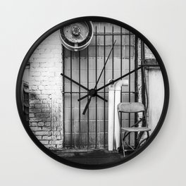 Black and White Chair Wall Clock