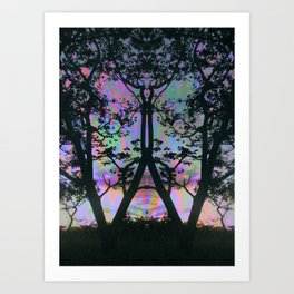 Nature is upset with us Art Print