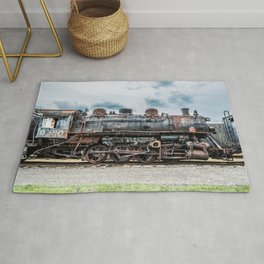Grand Trunk and Western Railroad Switcher 8380 Rusty Steam Train Rug