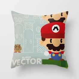 mario bros 2 fan art Throw Pillow