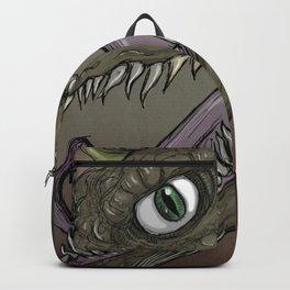 Brown dragon illustration Backpack