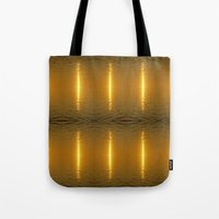 swedish Tote Bags featuring Swedish Ripples by LesImagesdeJon