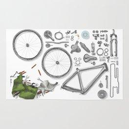 a bike's flatlay Rug