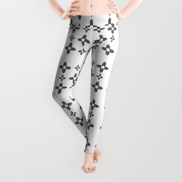 Flag of new mexico 3: Black and white version Leggings