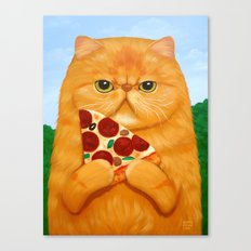 PIZZA FOR LUNCH Canvas Print
