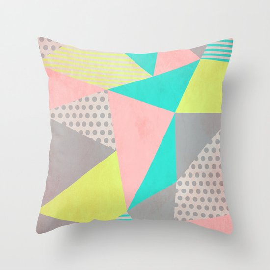 Geometric Pastel Throw Pillow