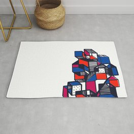 Geometric city pop art modern Rug