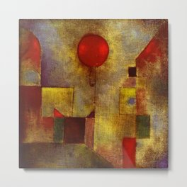 1922 Classical Masterpiece 'Red Balloon' by Paul Klee Metal Print