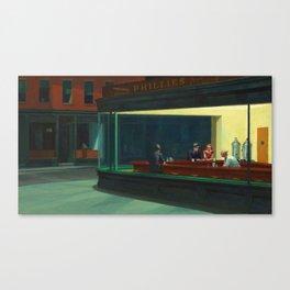 Nighthawks Painting Canvas Print