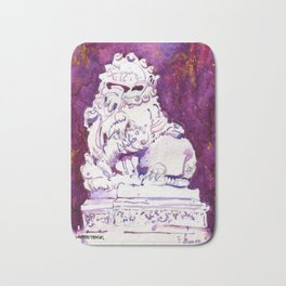 20161203c Stone Lion at Chinese Chamber Commerce Bath Mat