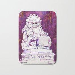 20161203c Stone Lion at Chinese Chamber Commerce Bath Mat