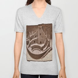 The Cliff Dwellers - Legends Of America Unisex V-Neck