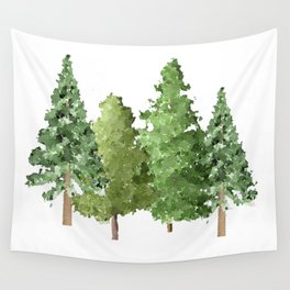Christmas Pine Trees Wall Tapestry