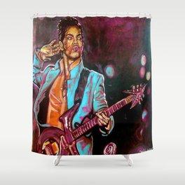 Purple Funk Shower Curtain