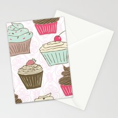 Cupcakes Curly Stationery Cards