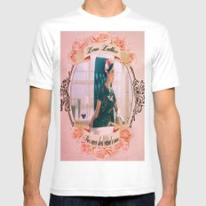 Lena Luthor MEDIUM White Mens Fitted Tee