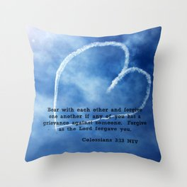 Colossians 3:13 Throw Pillow