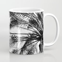 Palm Trees in Noir Entwining in a Tropical Breeze Coffee Mug