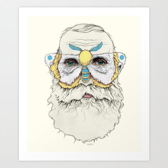 Mothbums Portrait N°8 Art Print