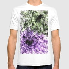 Hidden Faces White MEDIUM Mens Fitted Tee