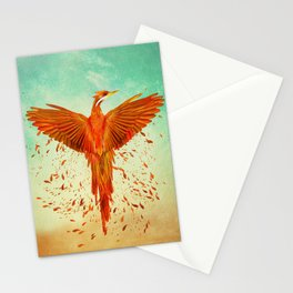 Phoenix Rising -Mixed media Stationery Cards
