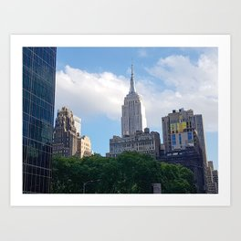 Empire State Building from Bryant Park Art Print