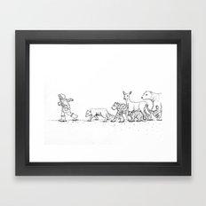 Follow Me Framed Art Print