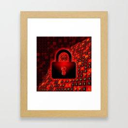 Secure data concept. Framed Art Print