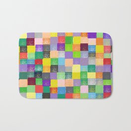 Pixelated Patchwork Bath Mat