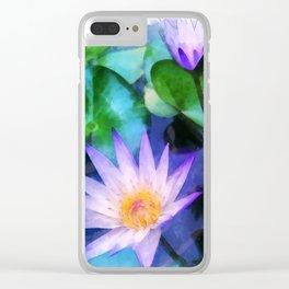 Purple Lotus Clear iPhone Case