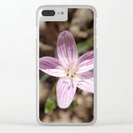 pretty little pink  flower Clear iPhone Case