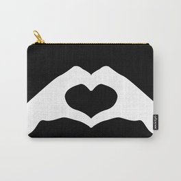 Hands making a heart shape- portraying love Carry-All Pouch
