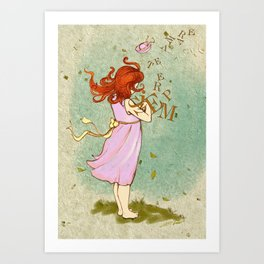 The words carried by the wind Art Print