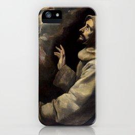 "El Greco (Domenikos Theotokopoulos) ""Saint Francis Receiving the Stigmata"" iPhone Case"