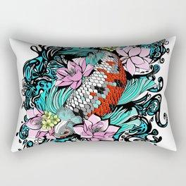 Colored Carpa Koi Rectangular Pillow