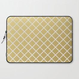 Pineapple Pattern Gold Laptop Sleeve