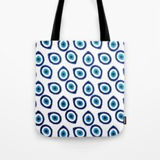Evil Eye Teardrop Tote Bag