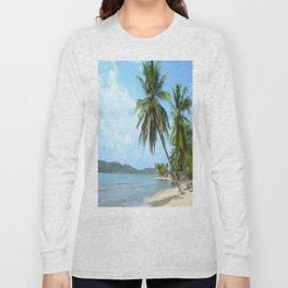 The Caribbean beach 01 Long Sleeve T-shirt