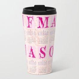 Typographic Calendar 2018 Travel Mug