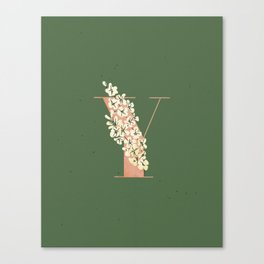 Y for Yellow-Eyed Grass Canvas Print