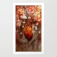 This Bleeding Blossoming Heart Art Print