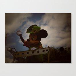 Animal Kingdom Mickey Mouse Canvas Print