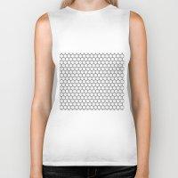 hexagon Biker Tanks featuring Design Hexagon by ArtSchool
