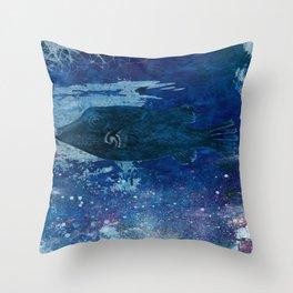 Cosmic fish, ocean, sea, under the water Throw Pillow