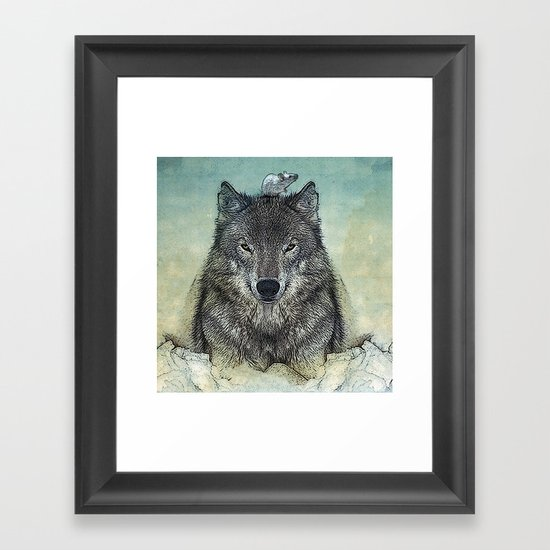 force and tiny Framed Art Print