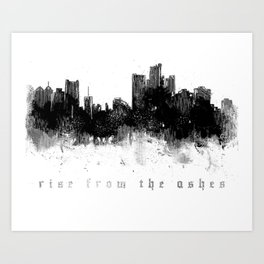 Detroit Rise From The Ashes Art Print