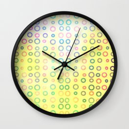 Playful circles II Wall Clock