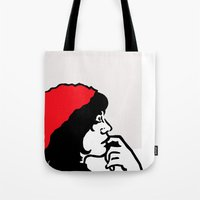 libra Tote Bags featuring Libra by Bree Stillwell Craft